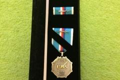 Udělená medaile