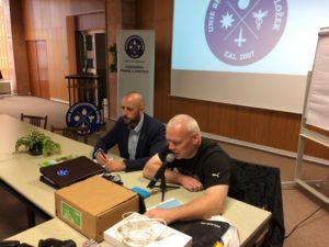Předseda Unie BS Drexler a předseda ZO UBS SPJ Praha Štěpán
